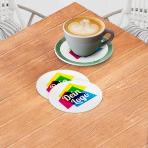 Tassendeckchen mit Logo bedrucken